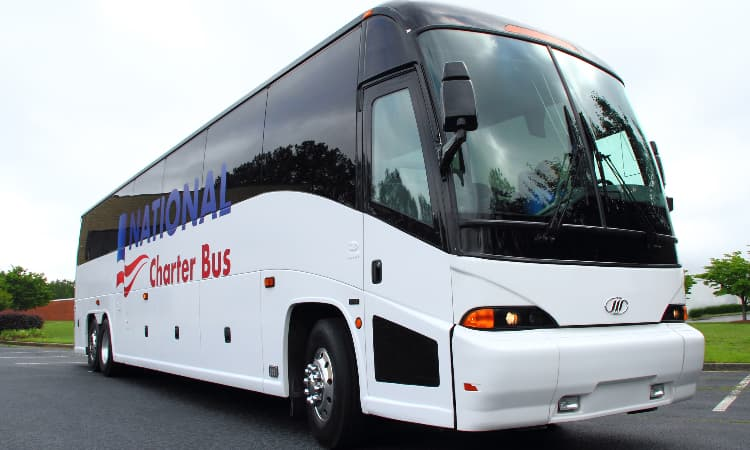 national charte bus full size 56 passenger motorcoach