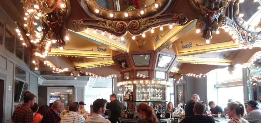 inside carousel bar in new orleans