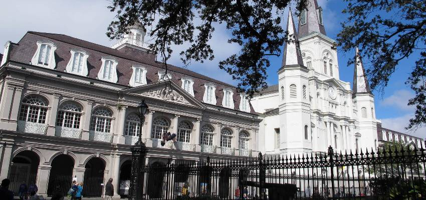 The Cabildo and The Presbytère in jackson square
