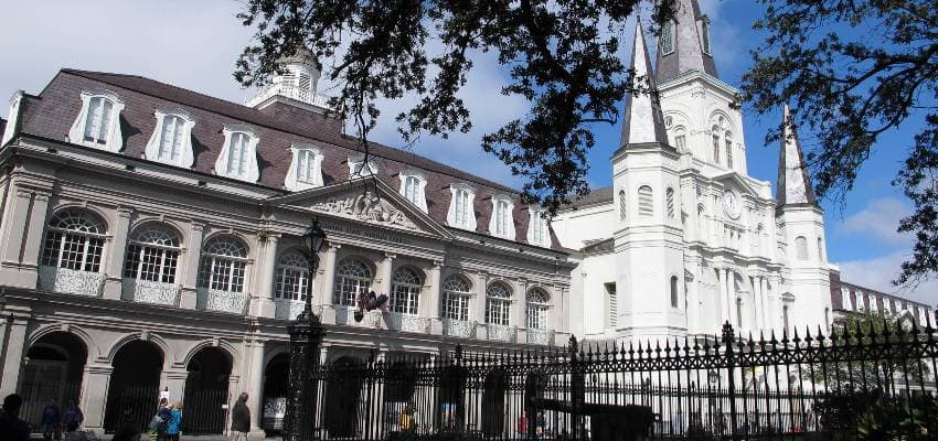 The cabildo and the presbytere in jackson square