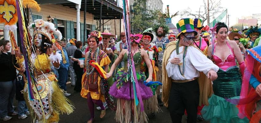 carnival celebration in new orleans