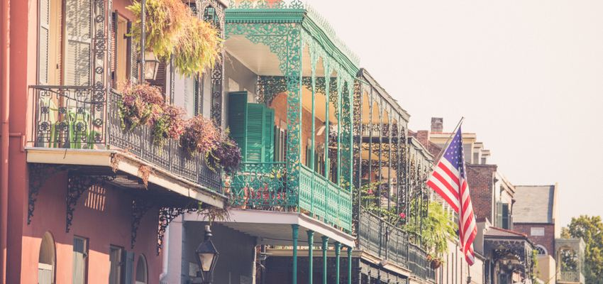 balconies int the french quarter new orleans