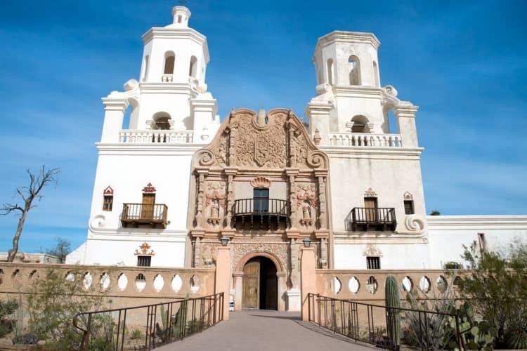 Mission of San Xavier del Bac monument entrance
