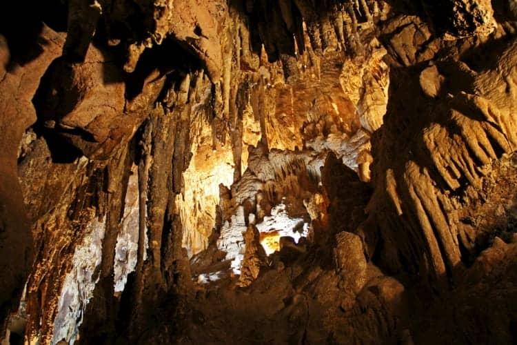 Inside the Kartchner Caverns in Phoenix