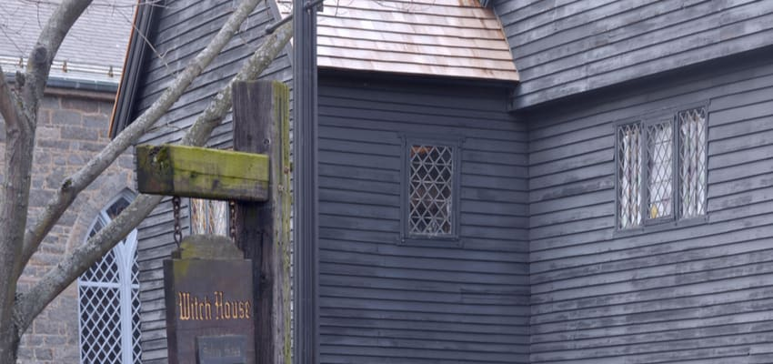 the exterior of the salem witch house