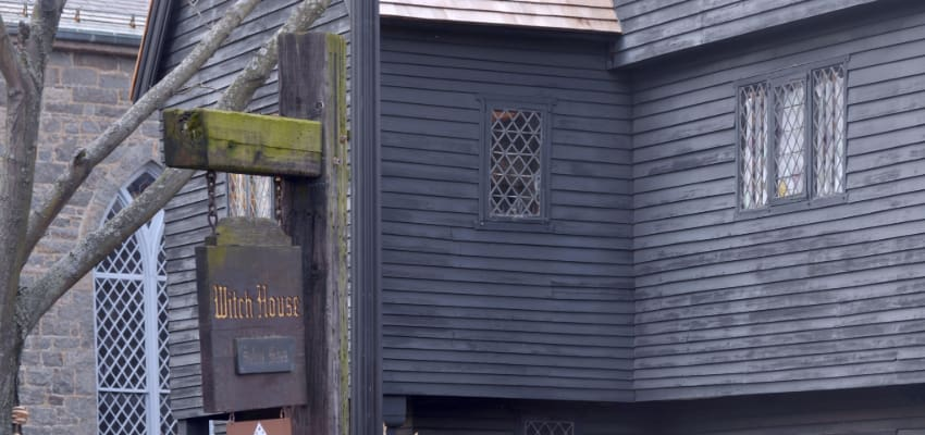 exterior of the Witch House in Salem, Massachusetts