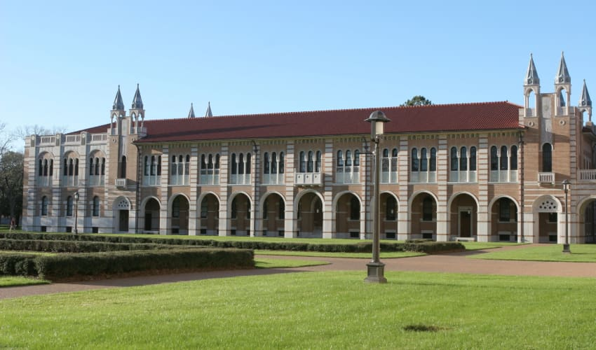 a building on the Rice University campus