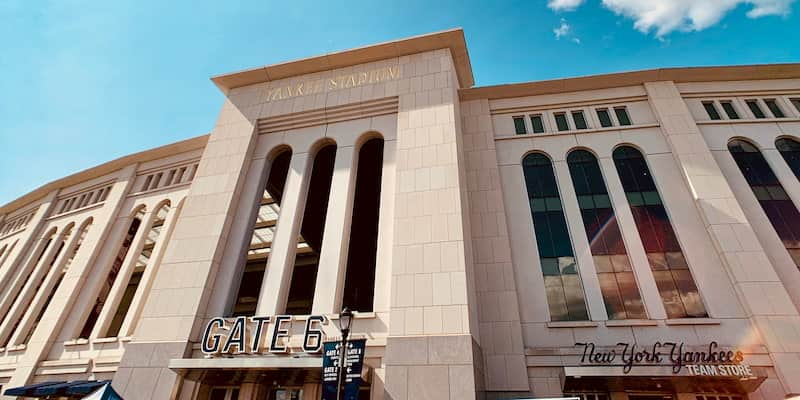exterior of yankee stadium in the bronx in new york city