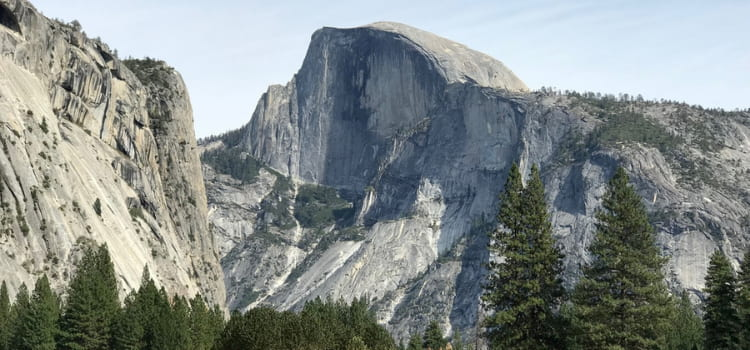 a view of the concave side of half dome