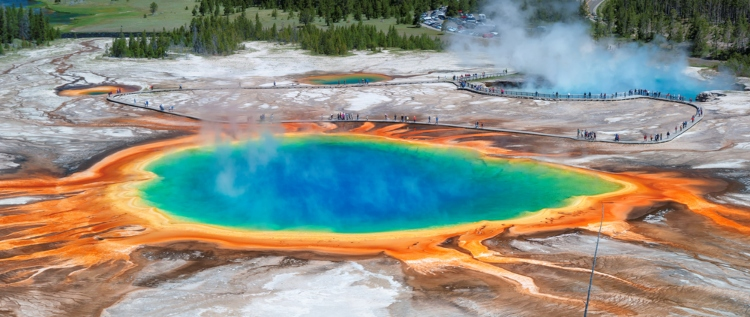 The Grand Prismatic Spring at Yellowstone National Park