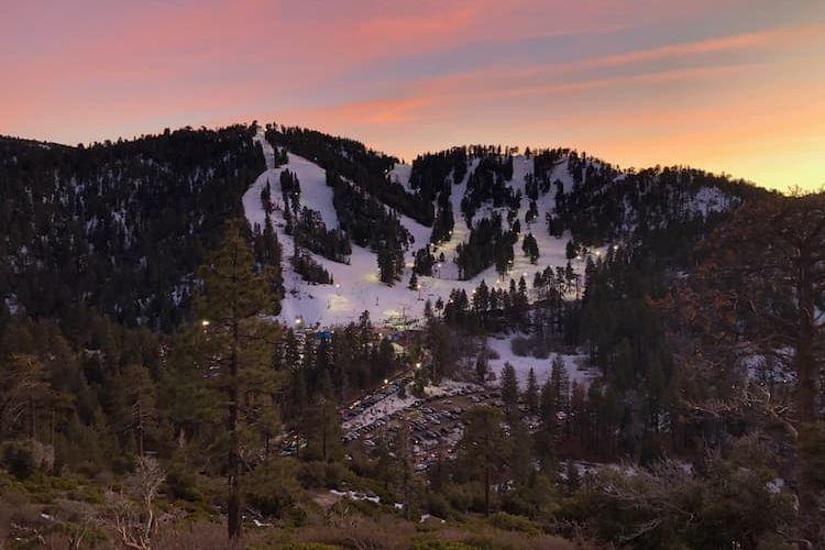 Mountain High at sunset