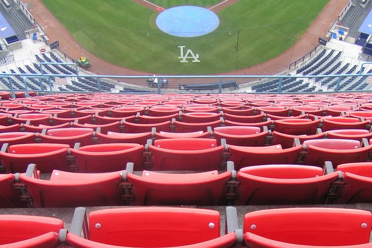 Dodger Stadium seats and field