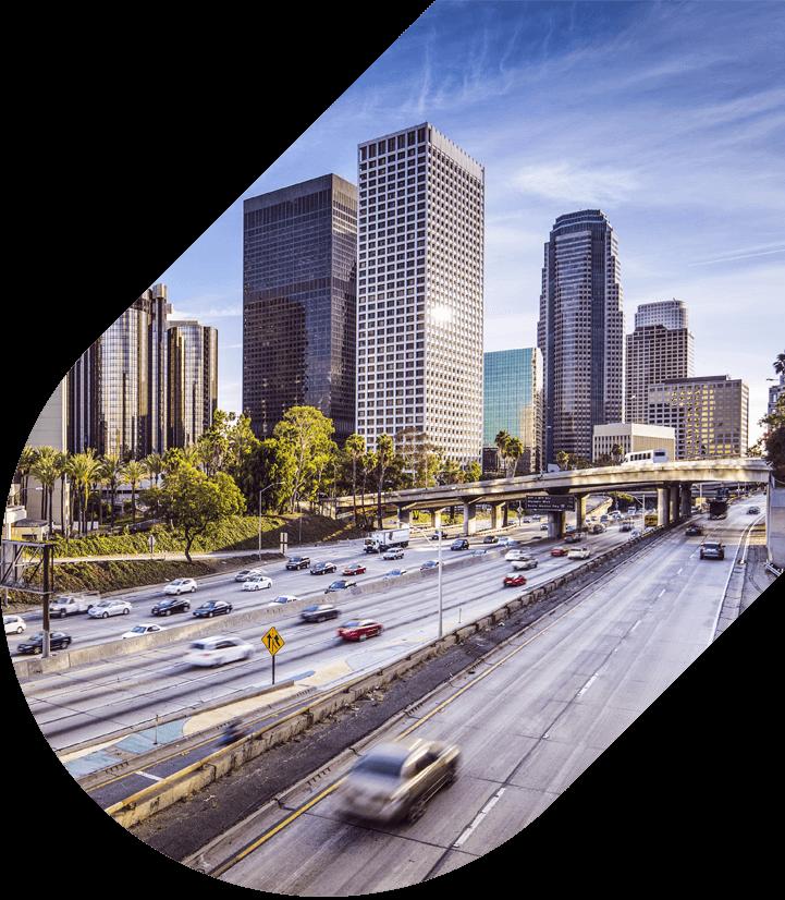 View of LA skyline