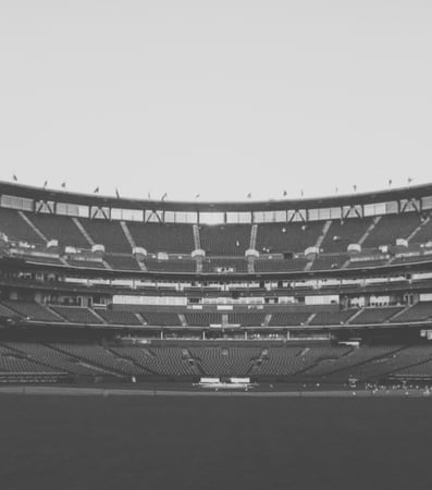 Black and white shot of Oracle Park in the past