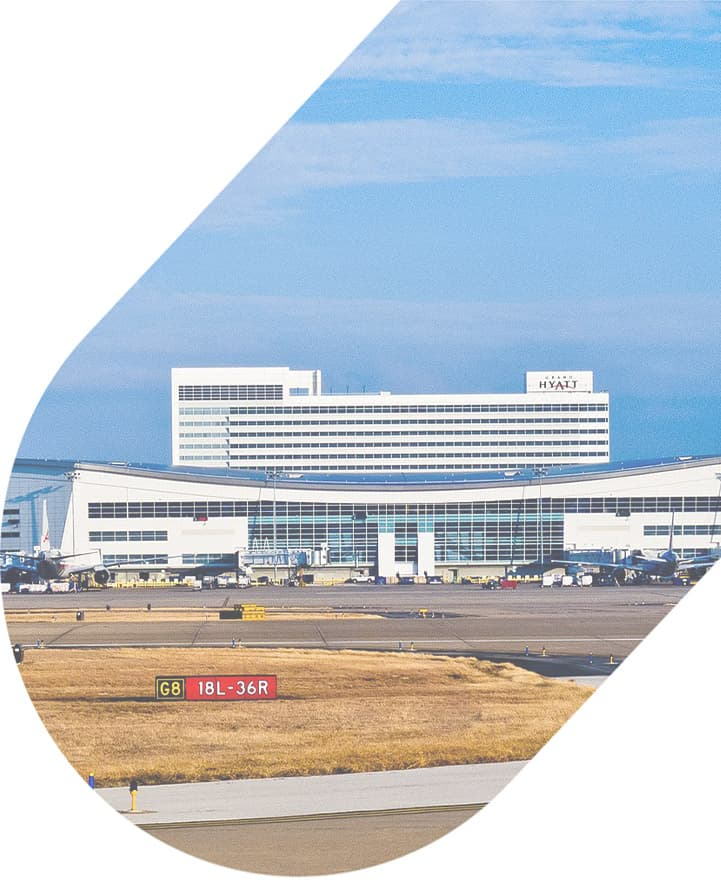 DFW airport seen from a distance
