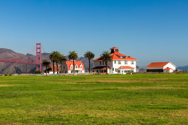 Buildings at Crissy Field on The Presidio.