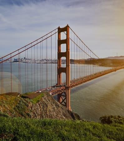 Golden Gate Bridge seen from the Presidio