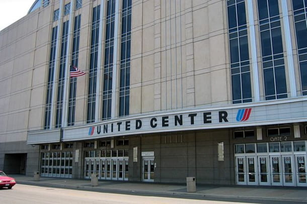 The entrance to the United Center in Chicago