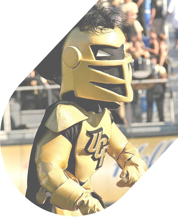 UCF mascot at game