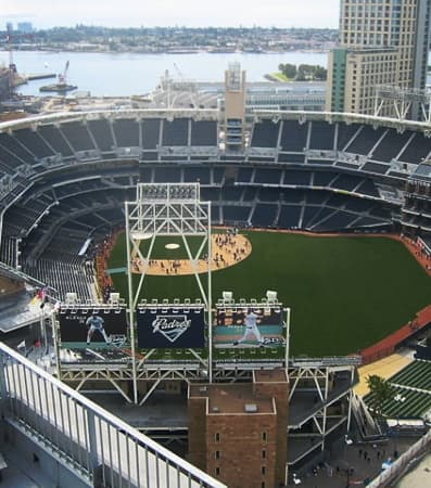 View of the field at Petco Park