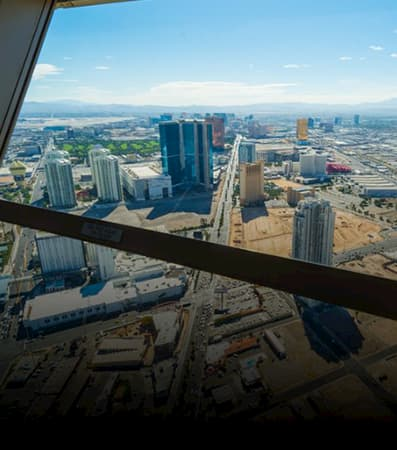 The Las Vegas cityscape as seen from afar