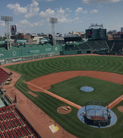 An aerial view of Fenway Park