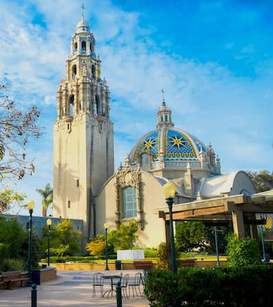 A dome and tower at Balboa Park