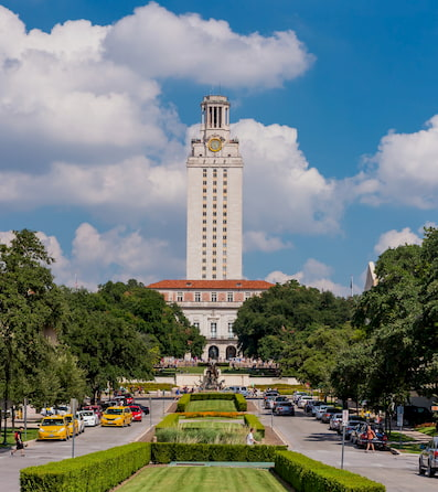 A tower on the University of Texas at Austin Campus