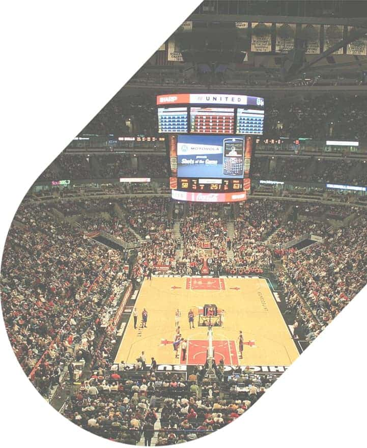 United Center during a basketball game