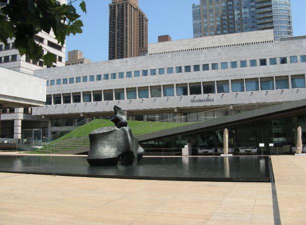 Exterior of a Juilliard School building in New York City