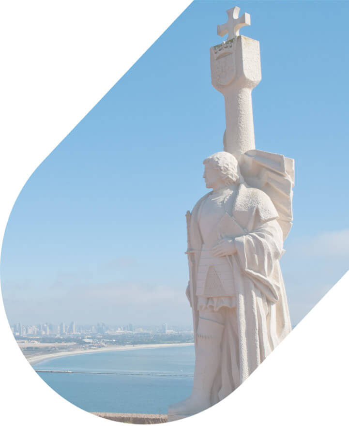 A statue at the Cabrillo National Monument