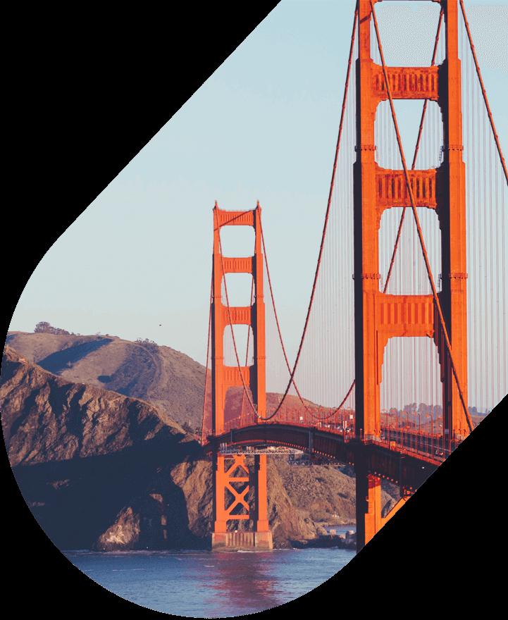 Close-up of Golden Gate Bridge