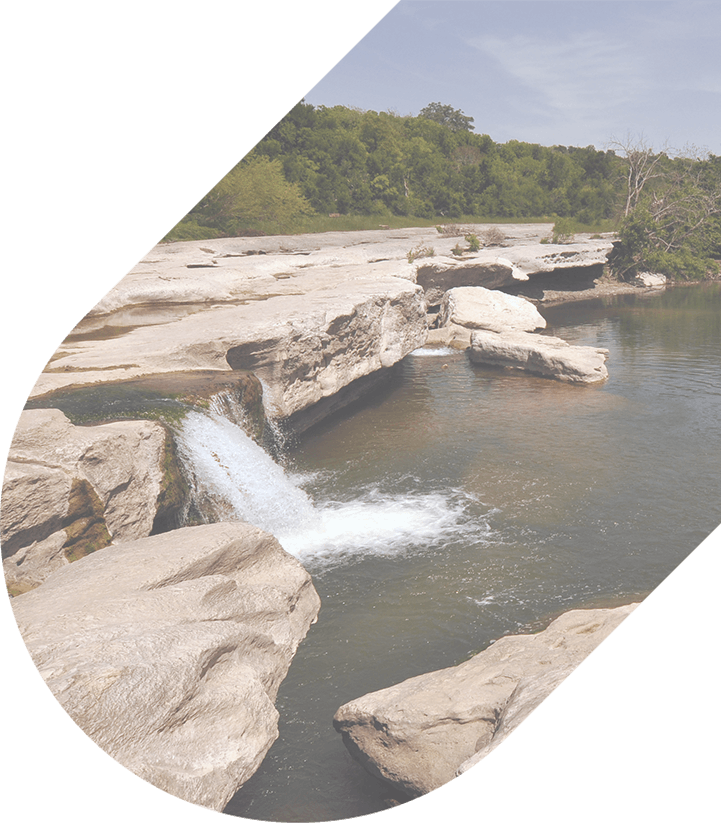 A tiny waterfall at McKinney Falls State Park