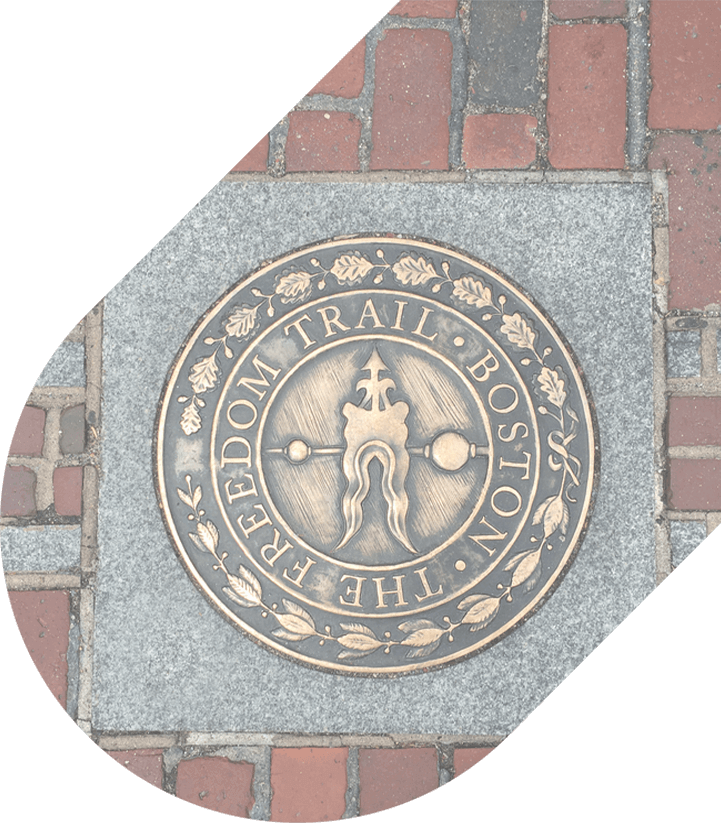 Paving stone marking stop on Freedom Trail