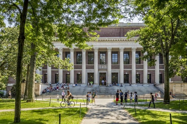 Large building on Harvard's campus