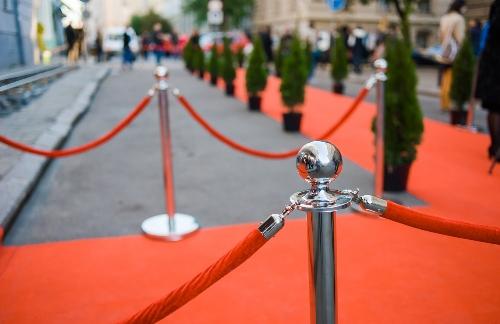 red carpet and velvet ropes