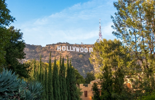 hollywood sign in the los angeles mountains