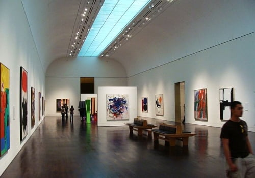 inside the blanton museum of art at university of texas austin