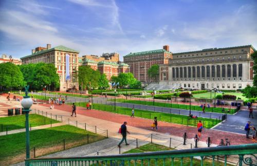 view of columbia university's campus