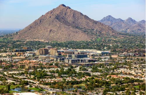 Camelback Mountain standing over Phoenix