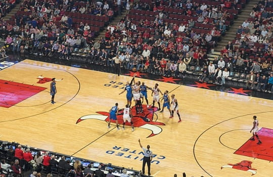 Chicago Bulls arena in the middle of a game