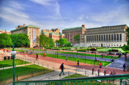 view of columbia university's campus