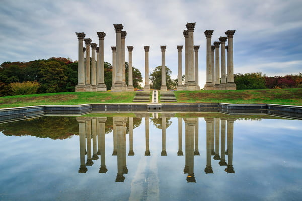 Columns at the National Arboretum in Washington DC