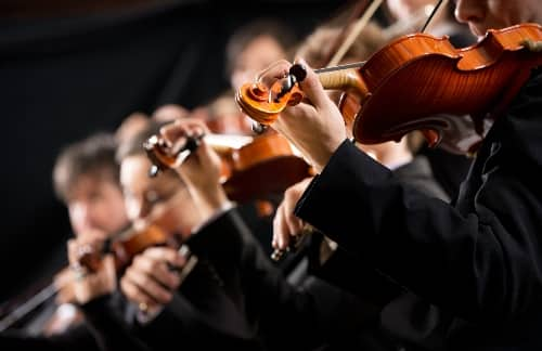 musical symphony in a concert hall