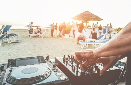 DJ on beach