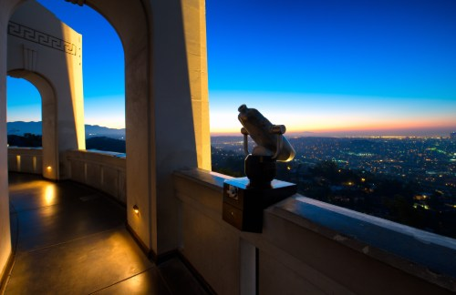 view of Los Angeles from the Griffith Observatory