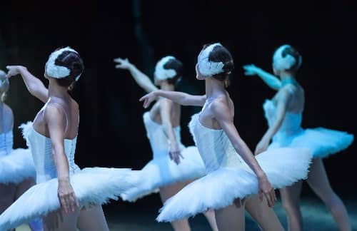 Ballet performers during a show
