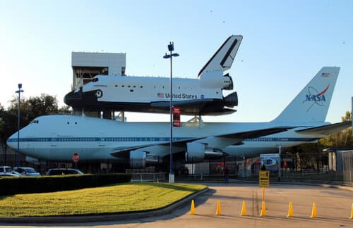 aircraft and spacecraft at the Johnson Space Center in Houston