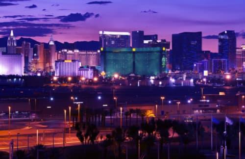 Las Vegas downtown skyline