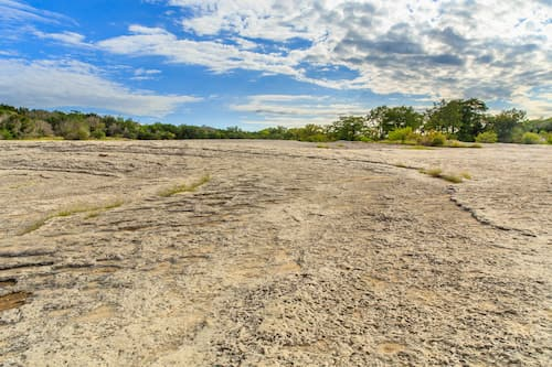 a dry area at mckinney falls state park